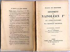 Sentiment de Napoléon Ier sur le christianisme Beauterne Bouniol Tequi 1912