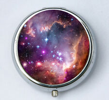 Galaxy Stars pillbox PILL case box holder outer space sci-fi