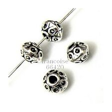10 Intercalaires spacer Motif rond 7x7x5.5mm Perles apprêts création bijoux A291