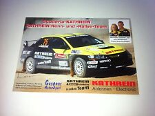 CP POSTCARD CARTOLINA MITSUBISHI LANCER HERMANN GASSNER JR RALLY WRC 2013