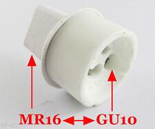 1pc MR16 Male to GU10 Female Socket Base LED Halogen CFL Light Bulb Lamp Adapter