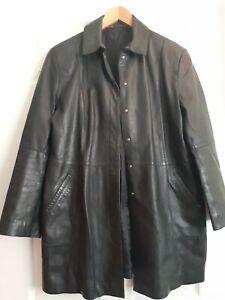 Ladies Vintage Soft Black Leather Jacket