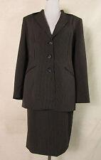 Gestreifte einreihige Damen-Anzüge & -Kombinationen aus Polyester mit
