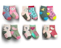 Baby Toddler Girl ABS Anti Non Slip Cotton Socks 2 Pairs Size 3 Months to 7Years