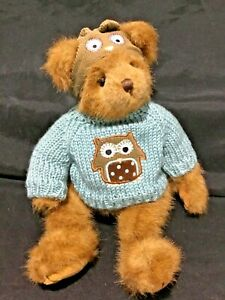 The Bearington Collection 36cm Teddy Bear in winter jumper and hat