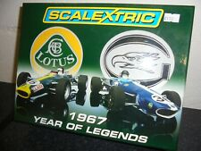 """Scalextric C2723a """"1967 Year of Legends"""" Lotus v Eagle Westlake Twin pack BNIB"""