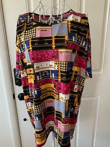 Women LuLaRoe Colorful Lugger Print Short Sleeve Dress Size XS