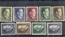 GENERAL GOV'T(OCC OF POLAND) Sc N91-6,94a-6a(MI 83-8A-B)F-VF USED 1941 SET $95