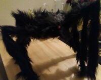2' Black Hairy Spider Huge Giant Halloween Haunt Prop Decoration