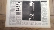 ALICE COOPER in Toronto 1974 UK ARTICLE / clipping