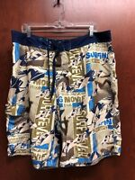Vintage OP Ocean Pacific Board Shorts Mens Tag Size 38 Drawstring Surfing Fever