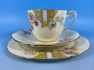 "Art Deco Paragon Tea trio ""Chloe"""
