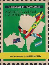 CONTINENTI IN FRANCOBOLLI - AMERICA DEL SUD E AUSTRALIA, Corriere dei Piccoli