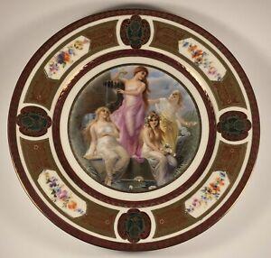 Antique 1920's Royal Schwarzburg Classical Mythology #4 Germany Porcelain Plate