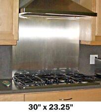 Backsplash w/Hemmed Edges Stainless Steel Kitchen Wall Tile Stove Range 30x23.25