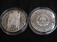 Francia 1990 moneta da 100 Franchi ( 15 ECU ) in argento Carlo Magno FS BE PP