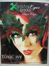 Toxic Poison Ivy Leaves Eye Art Costume Advanced Makeup Decal Mask Cosplay Anime