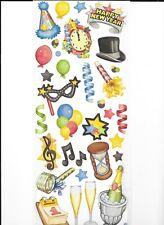 CREATIVE MEMORIES CLASSIC NEW YEAR'S JUMBO GREAT LENGTHS STICKER SHEET