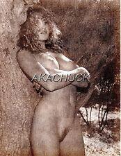 "SEPIA HENDRICKSON PHOTO Original 7x9"" Nude Model Blonde Tree Sweet D428"