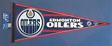 "EDMONTON OILERS PENNANT 12"" x 30"" NEW NHL WINCRAFT SPORTS FREE US SHIPPING"