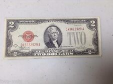 US NOTE $2.00 1928 F  RED SEAL UNITED STATES NOTE D45622929A  FREE SHIPPING