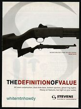 2012 STEVENS 350 Security Pump-Action Shotgun PRINT AD Gun Advertising Page