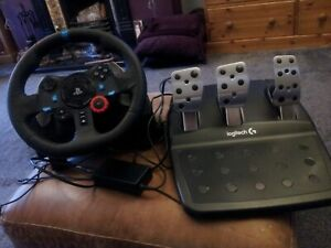 Logitech 222B411 G29 Racing Wheel and Pedals for PS4/PS3 and PC