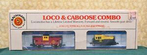 Vintage Bachmann ~ N-Scale ~ 0-6-0 LOCO & CABOOSE COMBO ~ Santa Fe #4871 ~ NIB