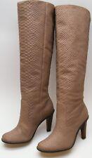 WOMENS COLE HAAN TALL KNEE HIGH HEEL TAN SNAKE SKIN PRINT BOOTS SZ 6.5~1/2 B