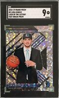 Luka Doncic 2018-19 Panini Prizm Luck of the Lottery Fast Break RC SGC 9 Mint