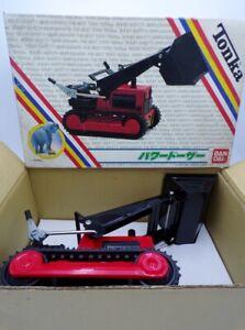 Vintage 1980's Tonka Toys Japan Tin Red Front End Loader Bulldozer NMIB