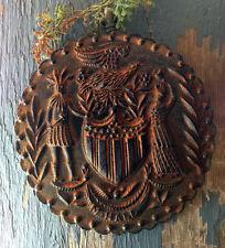PRiMiTiVE Americana Patriotic Blackened Beeswax Folk Art Cinnamon Scented Flag
