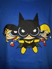 Mashup T-shirt - Power Puff Girls Justice League Wonder Woman Supergirl - Large