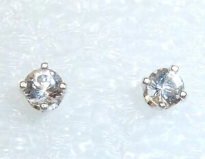 AZEZTULITE STUD EARRINGS - 3mm Stones - Sterling Silver with Certificate