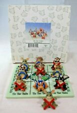 """Fitz & Floyd - Charming Tails """"Tic Tac Tails"""" #98/327 New in Box (Tic Tac Toe)"""