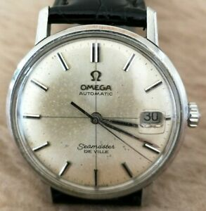 OMEGA Seamaster Deville Automatic CROSSHAIR Dial Stainless Steel MENS 34mm Watch