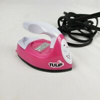 Tulip Mini Fashion Iron for Iron-On Appliques Transfers Crystals Crafts Pink