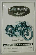 Blechschild 20 x 30 cm, Zündapp, Prägung, Nostalgie, Retro