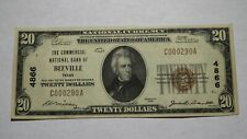 $20 1929 Beeville Texas TX National Currency Bank Note Bill Charter #4866 VF+!