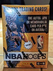 2015-16 PANINI NBA HOOPS BASKETBALL NEW SEALED BLASTER BOX - 1 AUTO/MEMORABILIA
