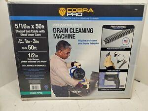 Cobra Pro 50-ft Wire Professional Grade Drain/Pipe Cleaning Machine Model CP2040
