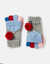 Joules Girls Halley Pom Gloves - GREY MARL