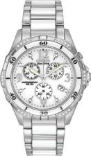 Citizen Eco-Drive Diamond Stainless White Ceramic Chrono Women's Watch FB123050A
