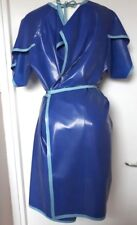Latex rubber LONG DRESSING GOWN TUNIQUE  DRESS ROBE fetish MEDICAL unisex