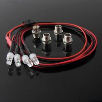 RC On-Road Model Drift Car LED Night 5mm & 3mm Headlamps Headlights Light 4pcs