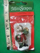 Darice MiniScapes ~ Mini Hedgehog ~ Christmas Figurine ~ Holding Wreath & Gift