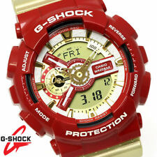 Genuine USED Casio G-Shock GA-110CS-4A Red Gold Crazy Color Analog Digital Watch