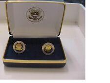 Pair of  unusual presidential barack obama cufflinks