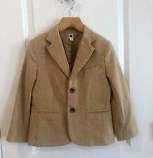 Janie & Jack Sz 6 Yrs Boys Wool Blend Blazer Suit Jacket Tan Camel And Lined