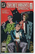 DC Comics Secret Origins Special #1 Signed by Editor Mark Waid VF+ 1989